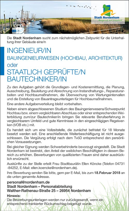 240118 nordenham ingenieur - Bewerbung Online
